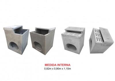 Ref . 9  BOCA DE LOBO SIMPLES COM LAJE – não fornecemos grelha de ferro fundido, somente grelha de concreto